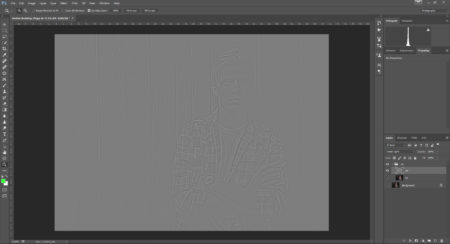 This is how the HF layer should look before you set the blend mode to Linear Light.